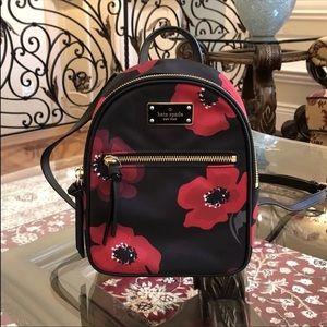 Kate Spade Wilson Road Poppy Mini  Nylon Backpack